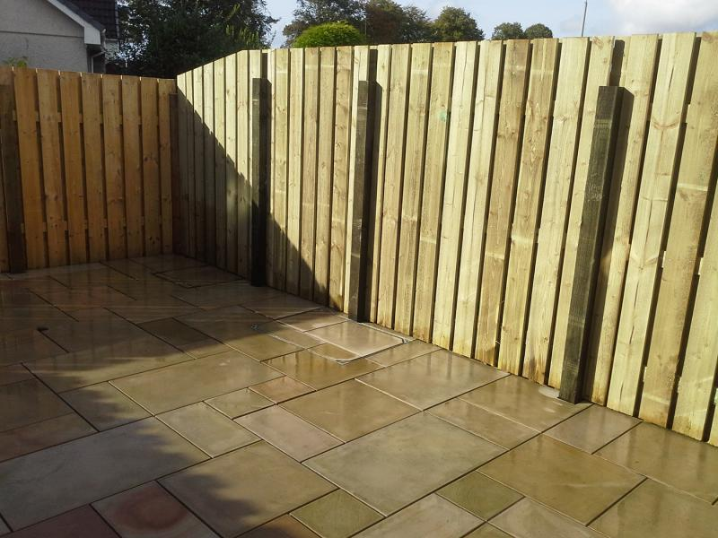 Patio and Fencing by Nicol of Skene