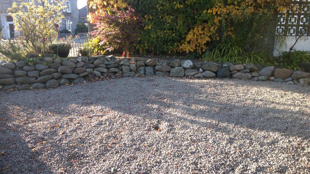 Before - This driveway was laid with stonechips